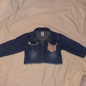 Girls 18-24mnth snap up jean jacket with design